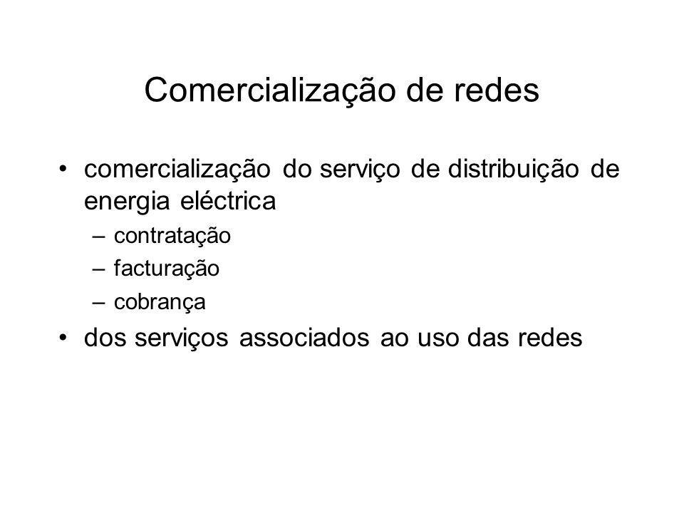 Comercialização de redes comercialização do serviço de distribuição de energia eléctrica –contratação –facturação –cobrança dos serviços associados ao