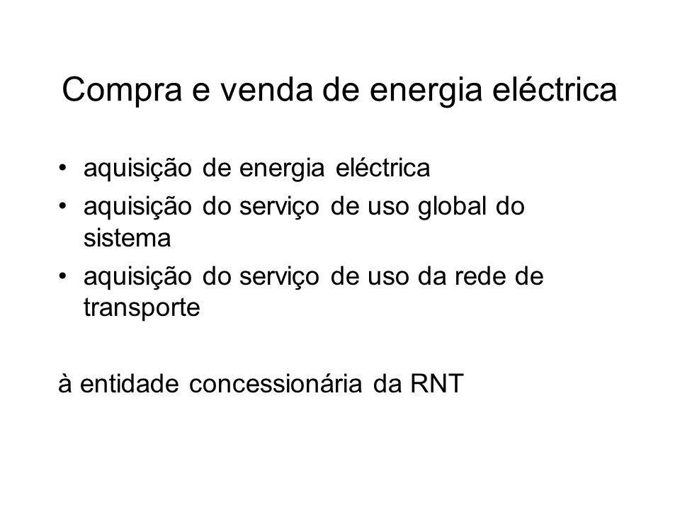 Compra e venda de energia eléctrica aquisição de energia eléctrica aquisição do serviço de uso global do sistema aquisição do serviço de uso da rede d