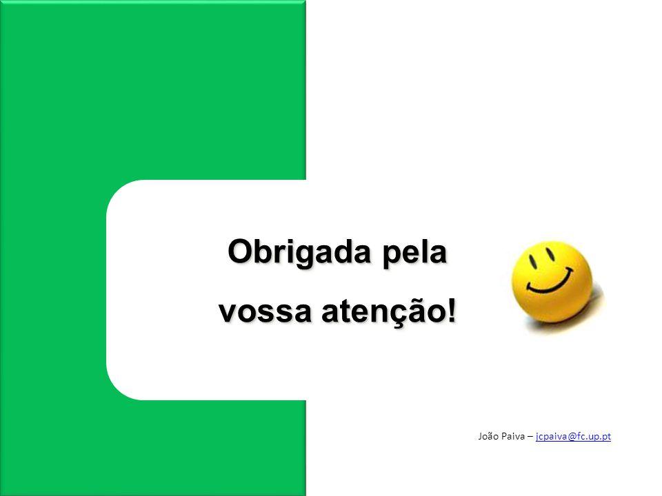 João Paiva – jcpaiva@fc.up.ptjcpaiva@fc.up.pt Obrigada pela vossa atenção!