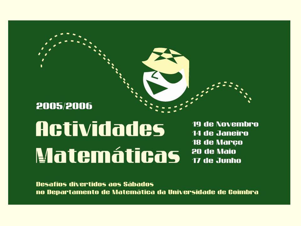 Primos de Mersenne e números perfeitos Euclides sabia como obter números perfeitos a partir dos primos de Mersenne: p M p Número perfeito 22 2 -1= 32 1 x3= 6 32 3 -1= 72 2 x7= 28 52 5 -1= 312 4 x31= 496 72 7 -1= 1272 6 x127= 8128