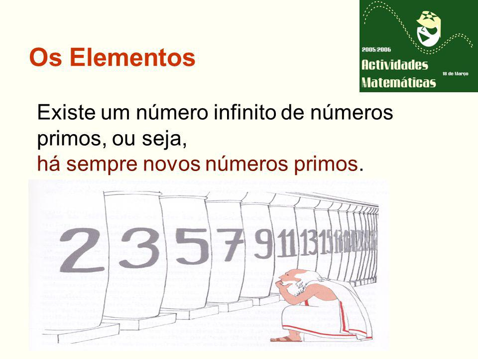 Os Elementos Existe um número infinito de números primos, ou seja, há sempre novos números primos.
