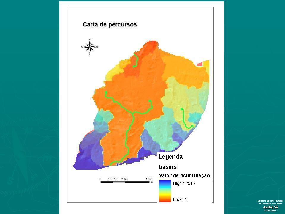 André Sá 13.Fev.2006 Impacto de um Tsunami no Concelho de Lisboa Carta de percursos