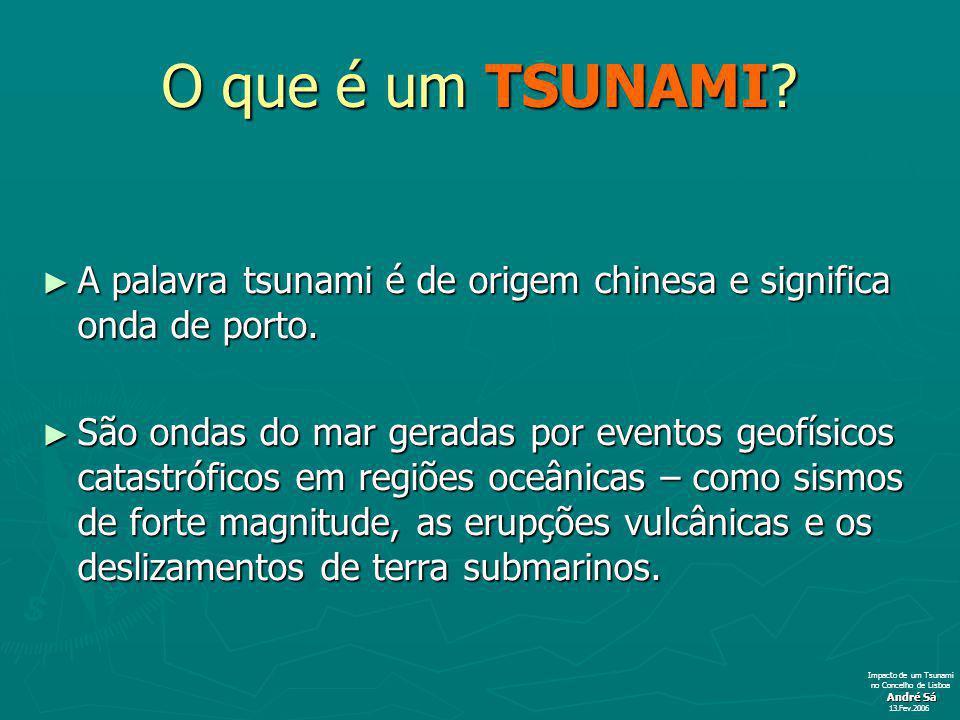 O que é um TSUNAMI.A palavra tsunami é de origem chinesa e significa onda de porto.