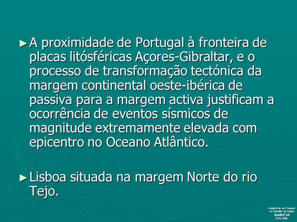 A proximidade de Portugal à fronteira de placas litósféricas Açores-Gibraltar, e o processo de transformação tectónica da margem continental oeste-ibérica de passiva para a margem activa justificam a ocorrência de eventos sísmicos de magnitude extremamente elevada com epicentro no Oceano Atlântico.