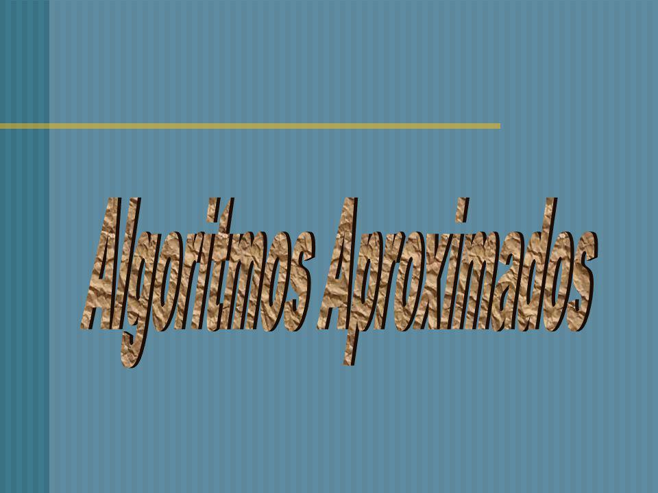 Algoritmo ineficiente: O seu uso na prática é limitado, uma vez que só pode ser usado quando o número de vértices é pequeno. Exemplo: Método 1 – Algor