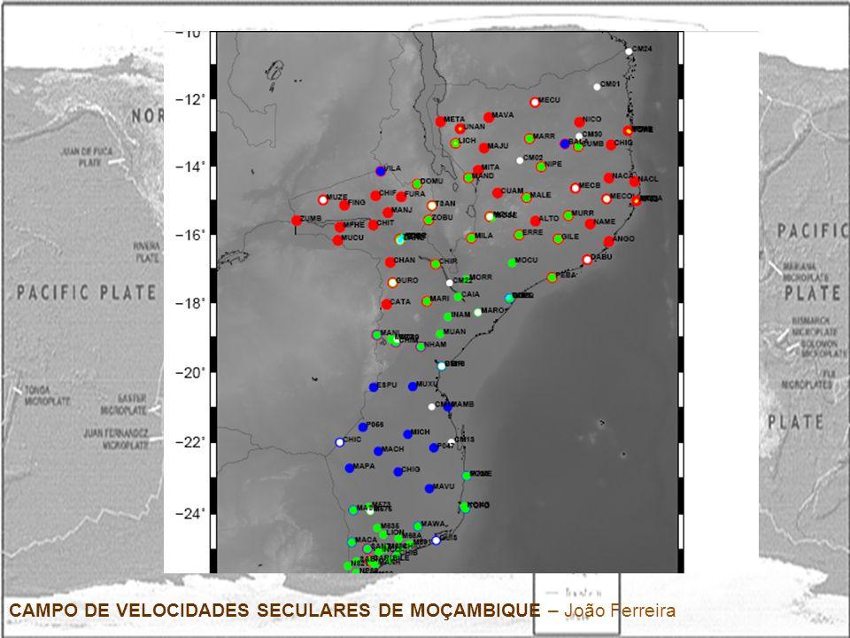 Cronologia -Pesquisa Bibliográfica (3 meses: T0 a T0+3) -Criação de uma base de dados com todas as observações para as estações disponíveis em Moçambique (2 meses: T0 a T0+2) -Familiarização com uma aplicação informática de processamento de dados GPS, nomeadamente GIPSY, o qual poderá ser feito em colaboração com a UBI (4 meses: T0 a T0+4) -Definição de possíveis estratégias de processamento dos dados e mapeamento das soluções em ITRF2005.