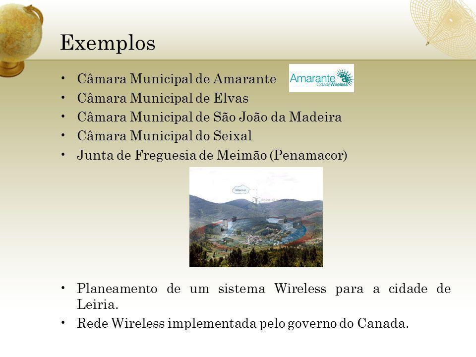 Exemplos Câmara Municipal de Amarante Câmara Municipal de Elvas Câmara Municipal de São João da Madeira Câmara Municipal do Seixal Junta de Freguesia