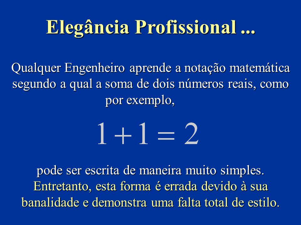Qualquer Engenheiro aprende a notação matemática segundo a qual a soma de dois números reais, como por exemplo, pode ser escrita de maneira muito simples.