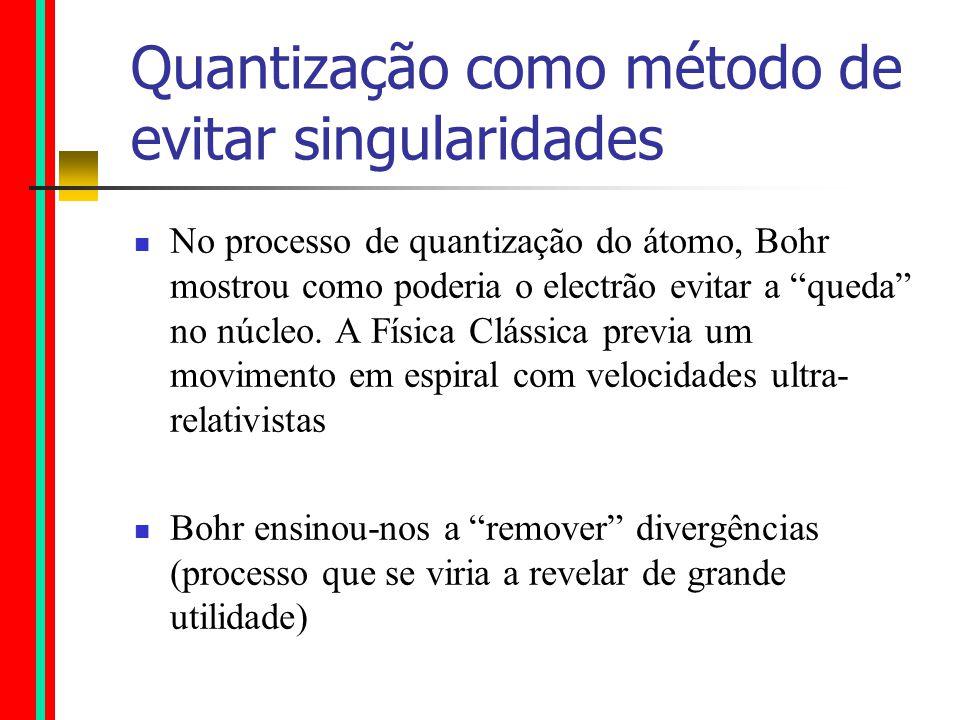 O átomo de Bohr (uma primeira aproximação ao comportamento do átomo) O modelo funcionava mas nem ele sabia bem porquê… Tal como ao tempo de Newton, não se sabia o que eram forças mas podia-se conceber e perceber o resultado da sua acção.