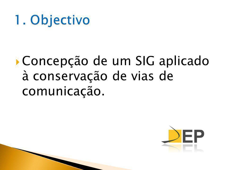 Concepção de um SIG aplicado à conservação de vias de comunicação.