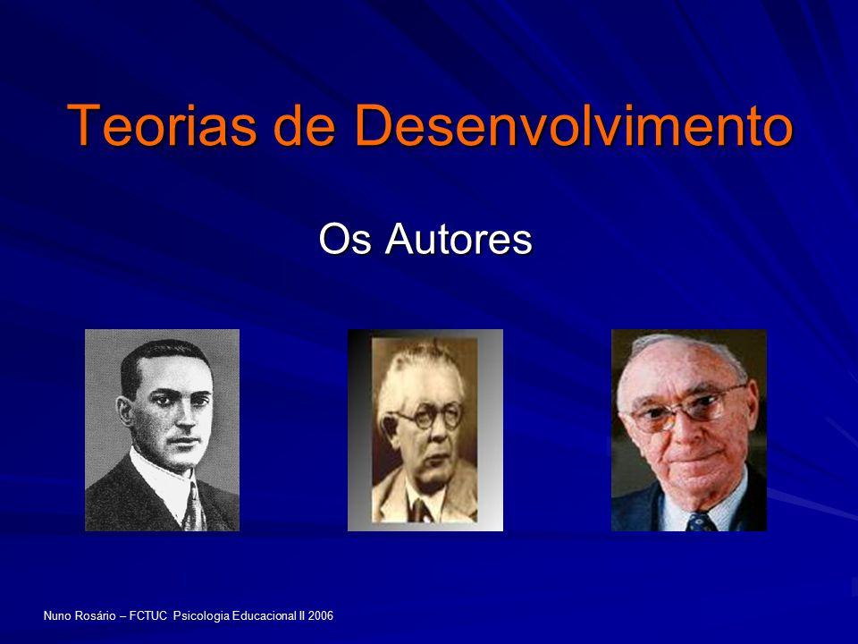 Teorias de Desenvolvimento Os Autores Nuno Rosário – FCTUC Psicologia Educacional II 2006