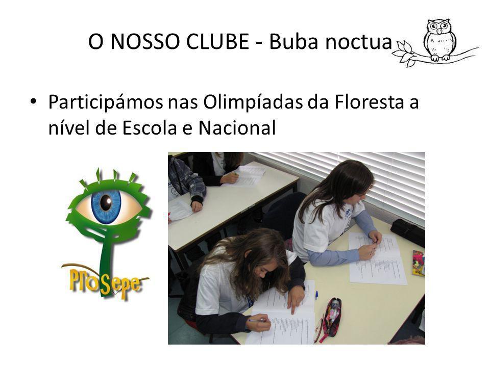 O NOSSO CLUBE - Buba noctua Participámos nas Olimpíadas da Floresta a nível de Escola e Nacional