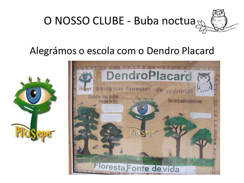 O NOSSO CLUBE - Buba noctua Alegrámos o escola com o Dendro Placard