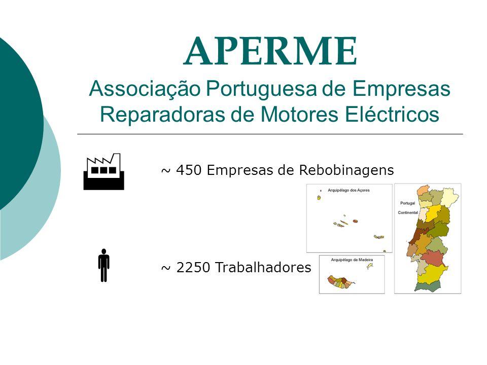 ~ 450 Empresas de Rebobinagens ~ 2250 Trabalhadores