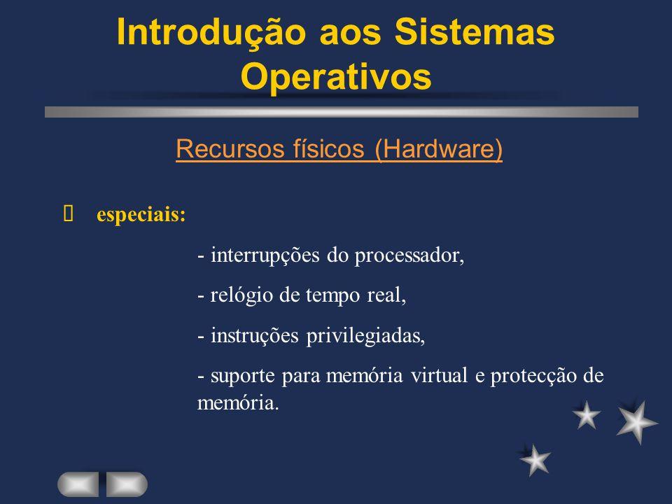 Introdução aos Sistemas Operativos Existem diferentes tipos de Sistemas Operativos...