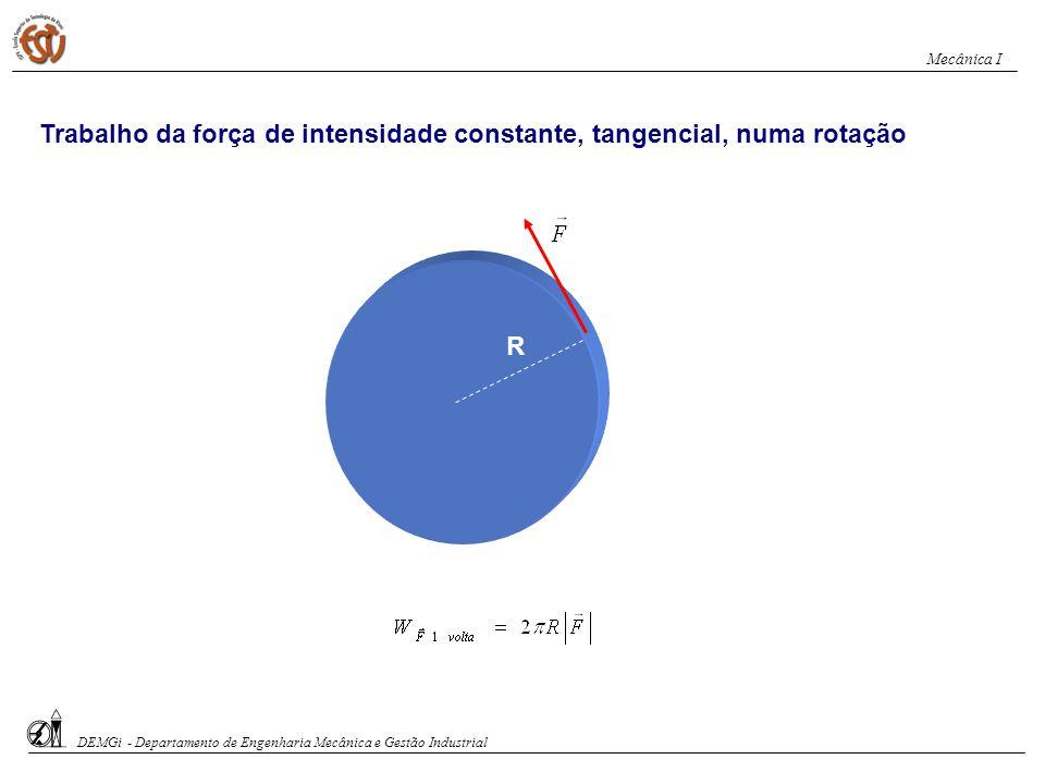 Teorema de Varignon O trabalho da força resultante de um sistema de forças num dado deslocamento é igual à soma algébrica dos trabalhos realizados por cada uma das forças.