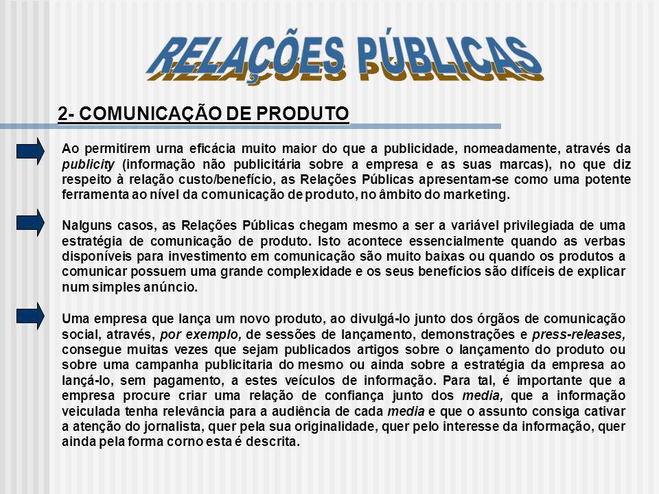 TIPOS DE COMUNICAÇÃO TipoPúblicosObjectivosExemplo de Acções Institucional -Accionistas -Comunidade financeira -Órgãos de Com.Social -Adm.Pública (central, local) -Sindicatos -Associações patronais -Líderes de opinião -Comunidade local -Público em geral - Veicular e consolidar um capital de confiança junto dos públicos -Atribuição do Prémio Científico da IBM -Conferência de imprensa joint- venture BP/Mobil
