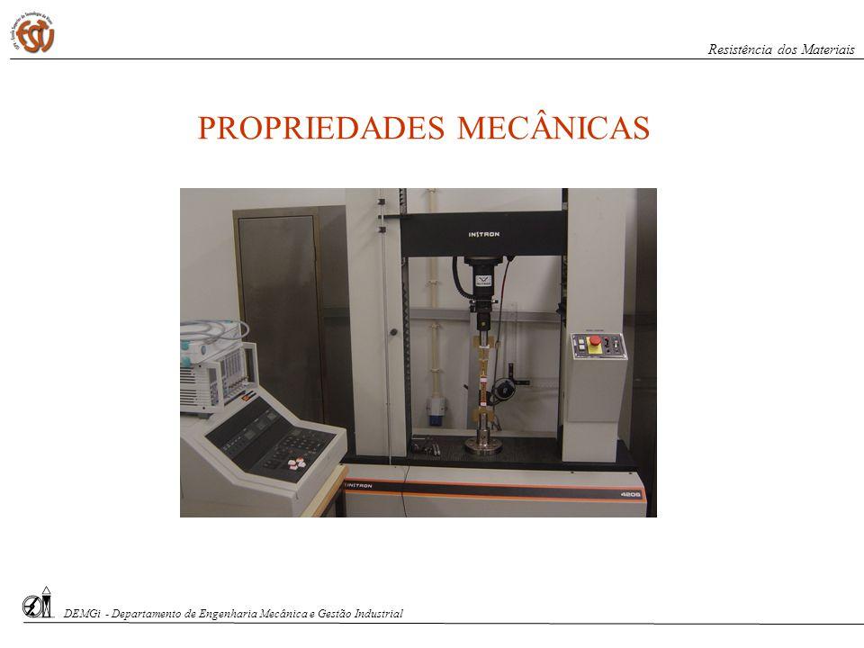 S. Paciornik – DCMM PUC-Rio PROPRIEDADES MECÂNICAS DEMGi - Departamento de Engenharia Mecânica e Gestão Industrial Resistência dos Materiais