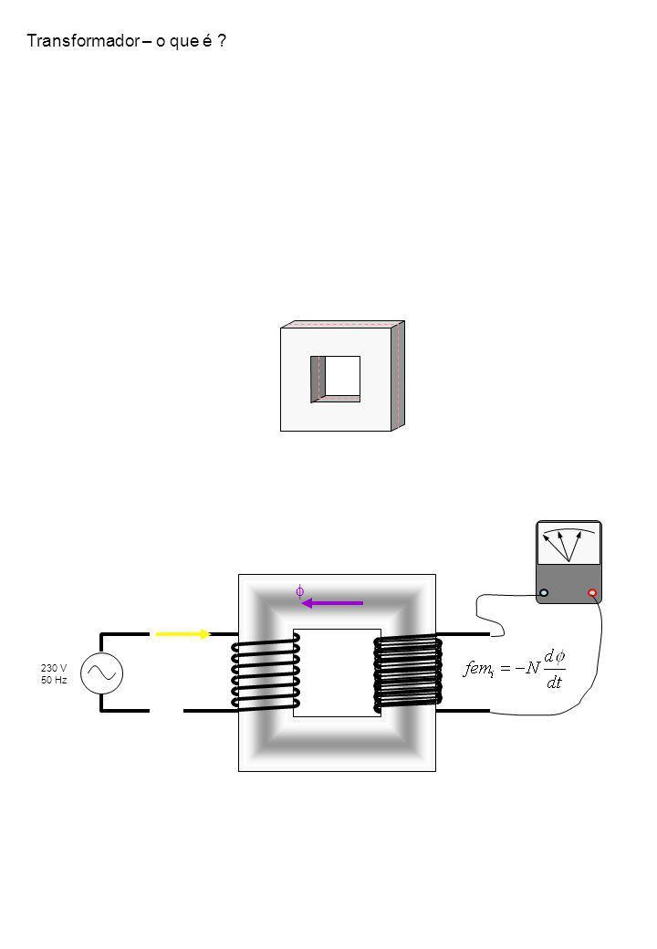 10 kV 150 / 220 / 400 kV 60 / 15 kV 400 V Necessidade de transformadores P1P1 P 2 = P 1 – P P = RI 2 V = RI V1V1 V 2 = V 1 - V S = V I