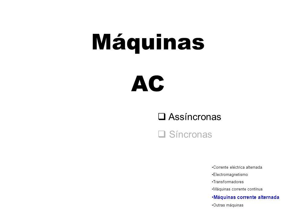 Campo magnético N S N S N S N S Campo magnético girante A agulha (magnética) acompanha o movimento do campo gira com velocidade síncrona
