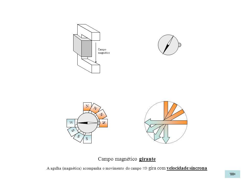 Rotor em gaiolaEstator com as bobines