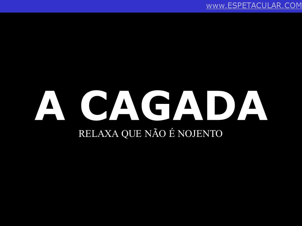 A CAGADA RELAXA QUE NÃO É NOJENTO www.ESPETACULAR.COM