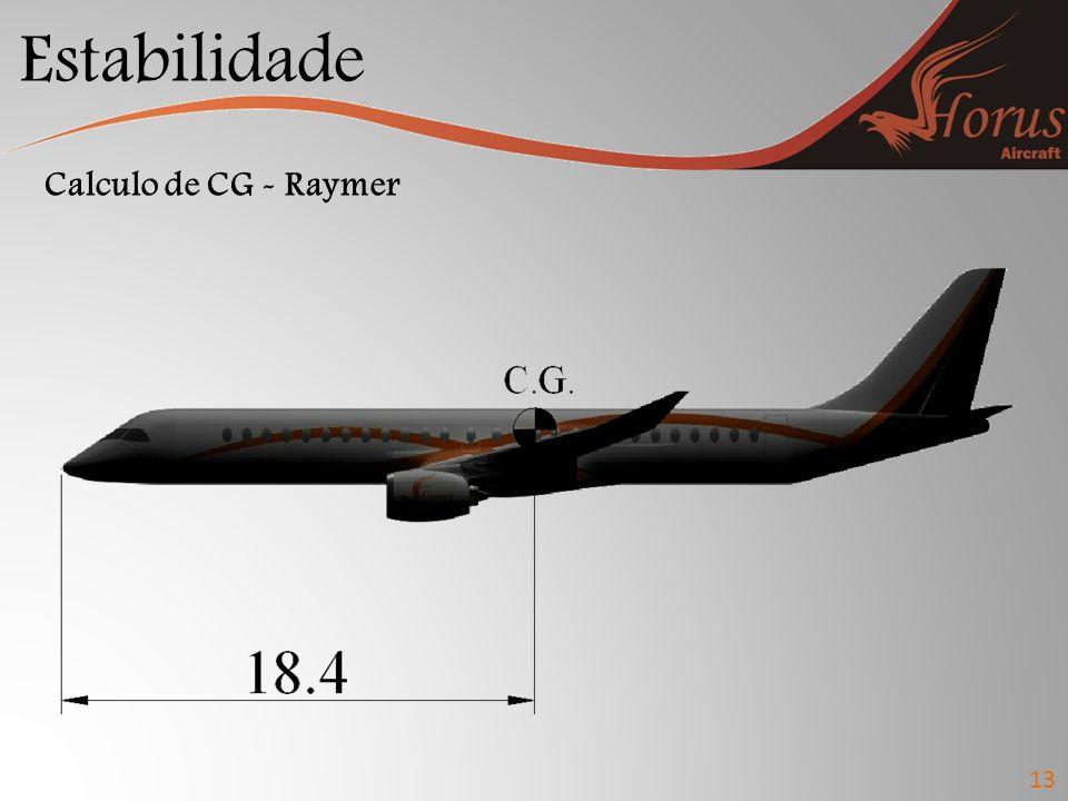 Estabilidade 13 Calculo de CG - Raymer