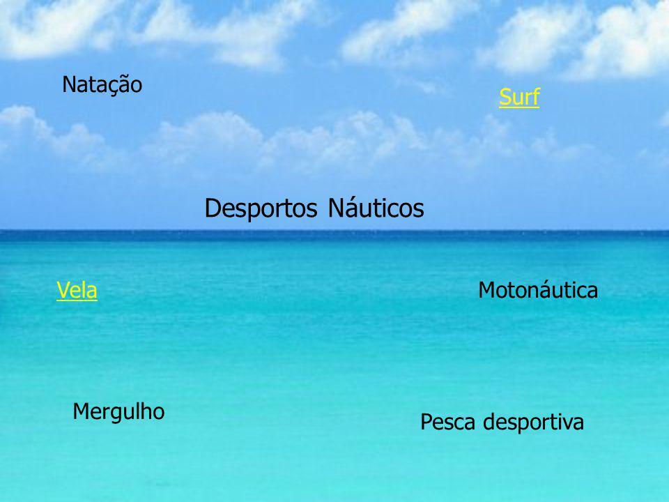 Desportos Náuticos Natação VelaMotonáutica Surf Mergulho Pesca desportiva