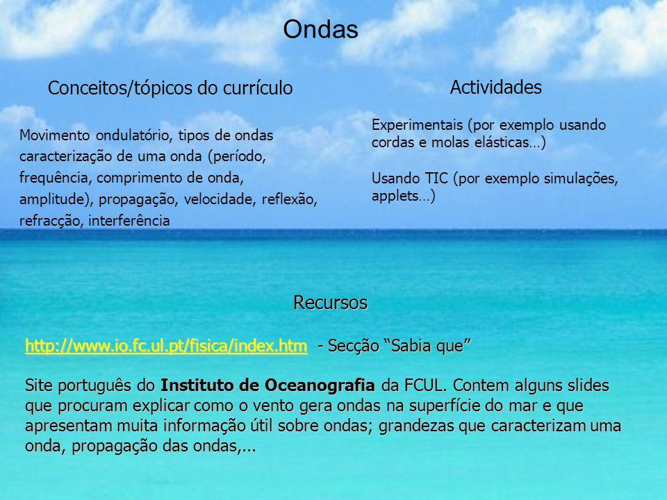 Marés Recursos http://www.hidrografico.pt/wwwbd/ Site português do Instituto Hidrográfico.