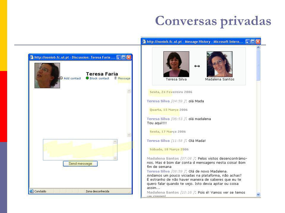 Conversas privadas