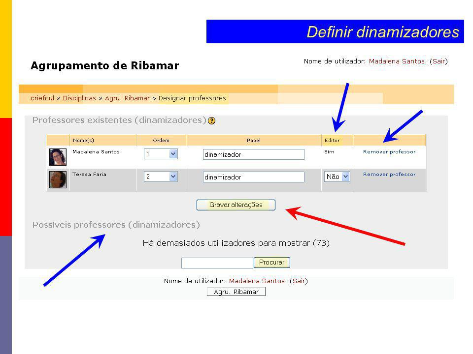 Definir dinamizadores
