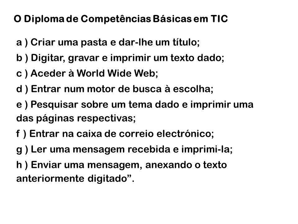 TIC disciplina – unidades essenciais – 10ºano 4.