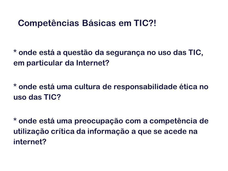 TIC disciplina – unidades essenciais – 10ºano (cont.) 7.
