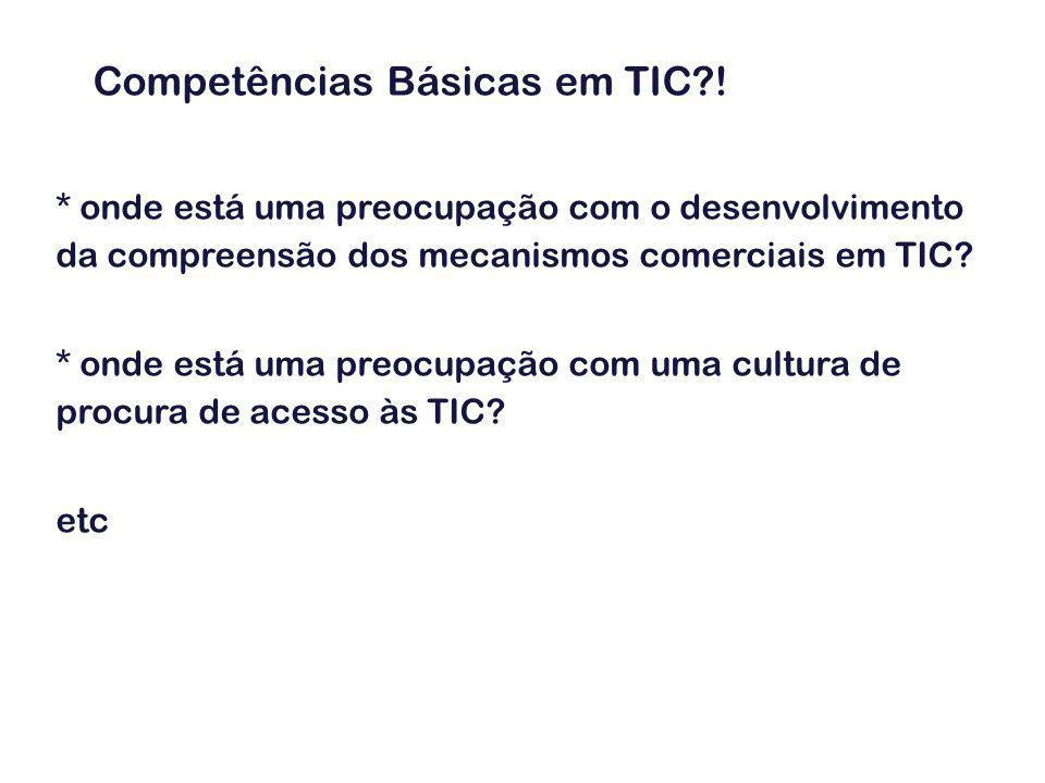Exemplo 2: O Referencial de Competências Chave (educação e formação de adultos) Unidades de Competência (nível B3): 1.