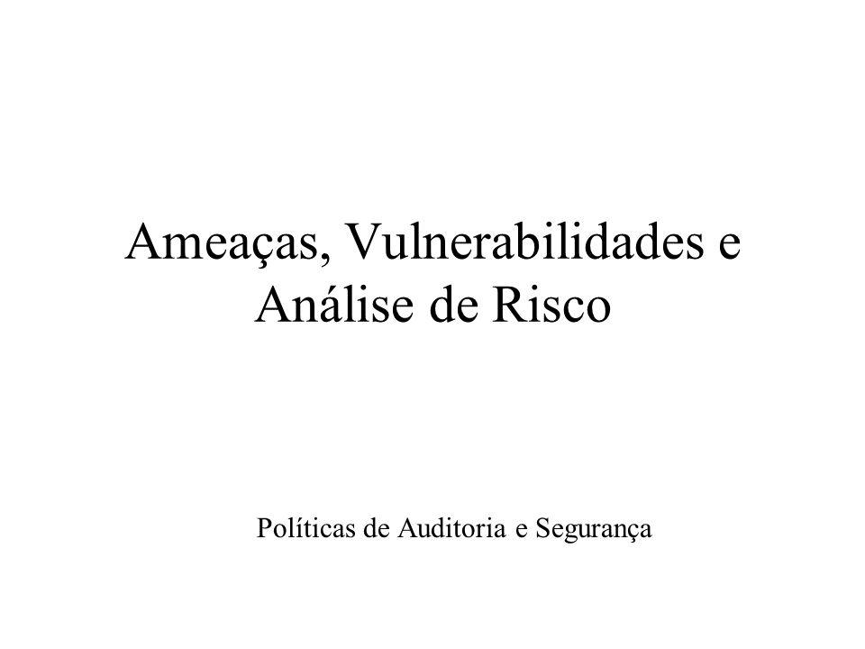 Ameaças, Vulnerabilidades e Análise de Risco Políticas de Auditoria e Segurança