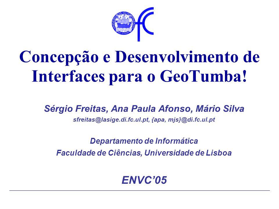 Concepção e Desenvolvimento de Interfaces para o GeoTumba.