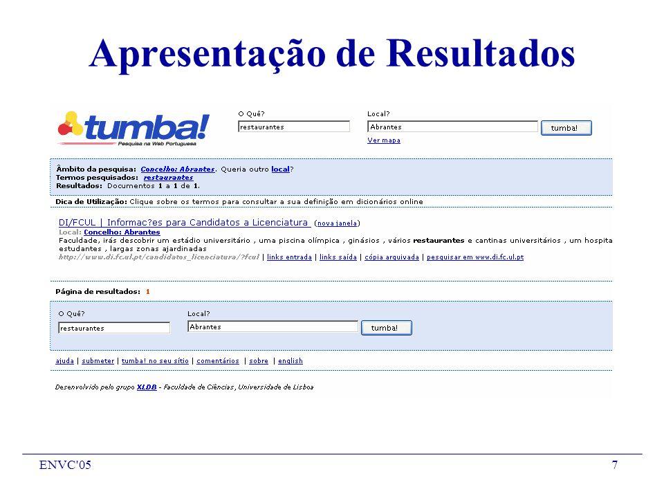 ENVC 057 Apresentação de Resultados