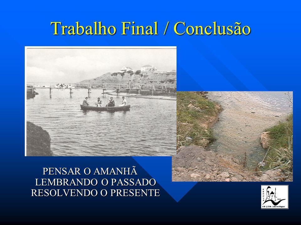 Trabalho Final / Conclusão PENSAR O AMANHÃ LEMBRANDO O PASSADO RESOLVENDO O PRESENTE