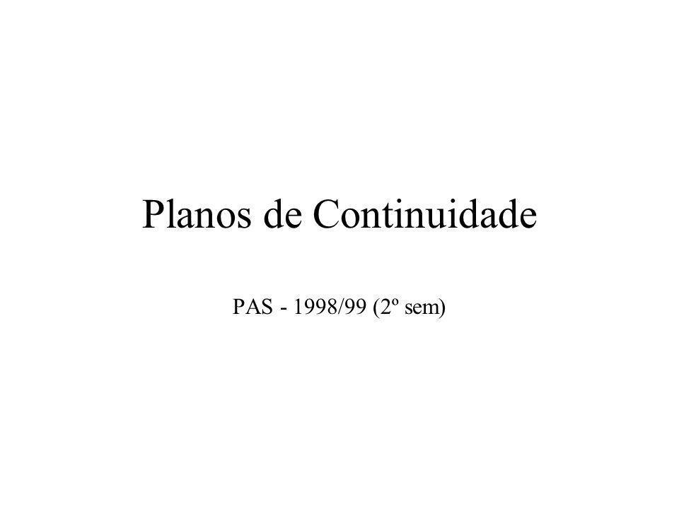 Planos de Continuidade PAS - 1998/99 (2º sem)