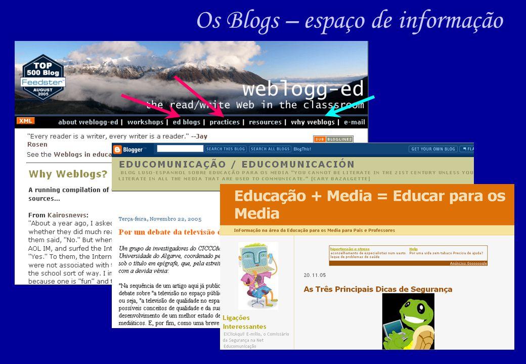 Os Blogs – espaço de informação