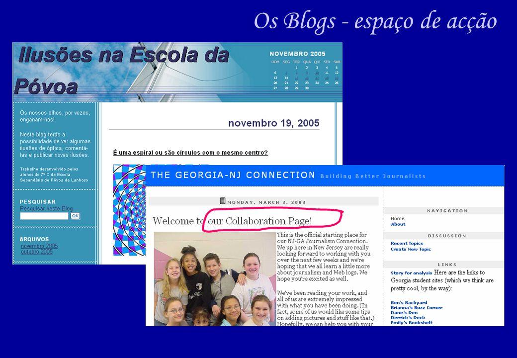 Os Blogs - espaço de acção