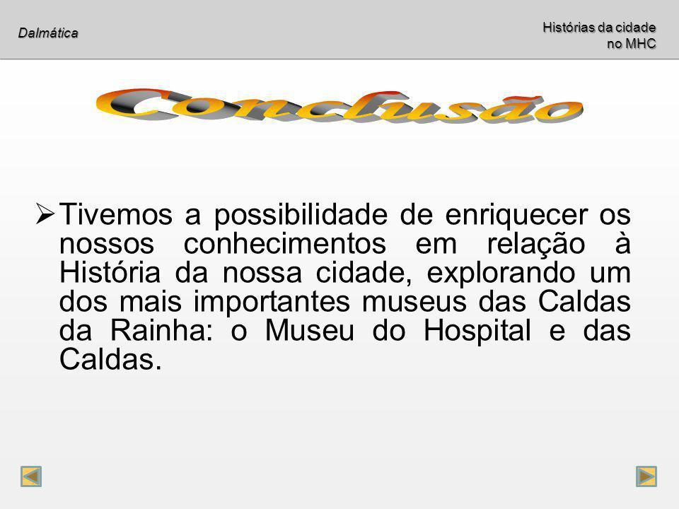 Históriasda cidade no MHC Histórias da cidade no MHC Dalmática Diogo Almeida nº 11 Laura Carreira nº 15 Sara Paulo nº 24 João Rodrigues nº 27