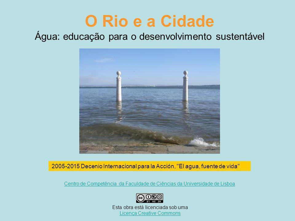 Água: educação para o desenvolvimento sustentável O Rio e a Cidade 2005-2015 Decenio Internacional para la Acción, El agua, fuente de vida Centro de Competência da Faculdade de Ciências da Universidade de Lisboa Esta obra está licenciada sob uma Licença Creative CommonsLicença Creative Commons