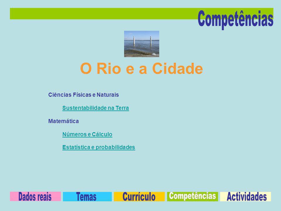 Ciências Físicas e Naturais Sustentabilidade na Terra Matemática Números e Cálculo Estatística e probabilidades O Rio e a Cidade