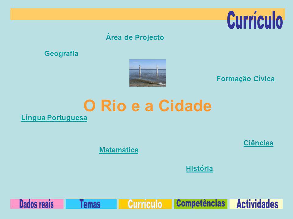 Geografia História Língua Portuguesa Ciências Formação Cívica Área de Projecto Matemática O Rio e a Cidade