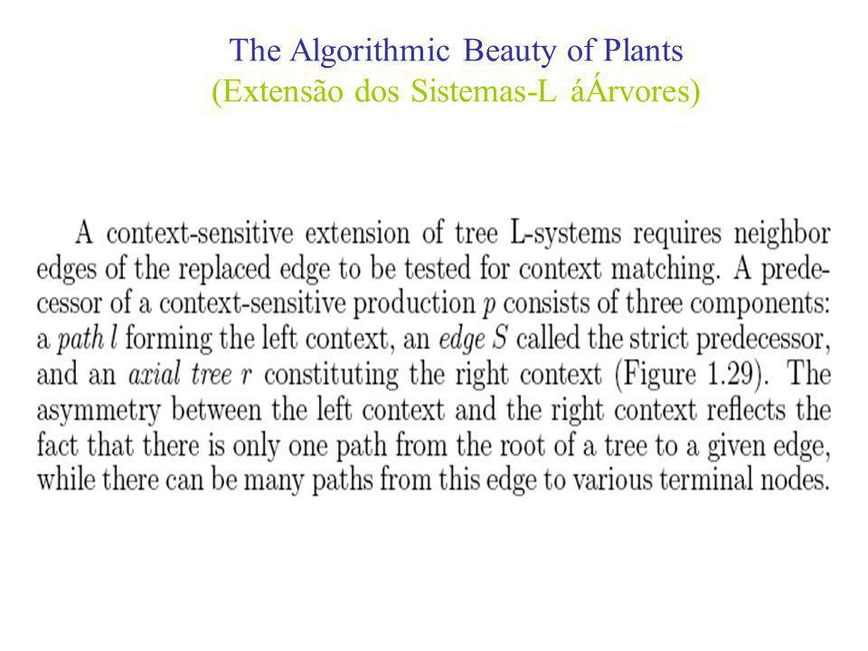The Algorithmic Beauty of Plants (Extensão dos Sistemas-L áÁrvores)