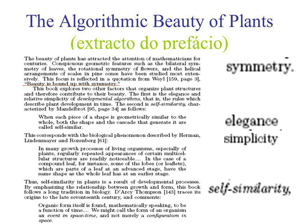 The Algorithmic Beauty of Plants (Prioridade às Regras Sensíveis aos Contextos)