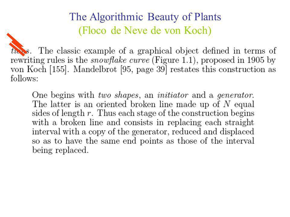 The Algorithmic Beauty of Plants (Construção do Floco de Neve de von Koch)