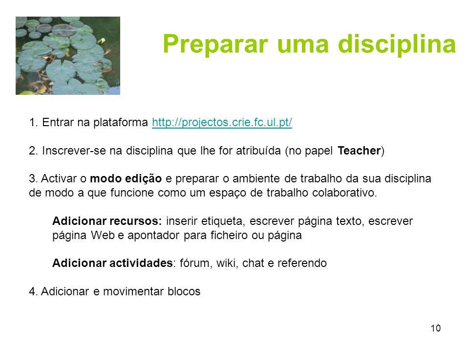 10 Preparar uma disciplina 1.
