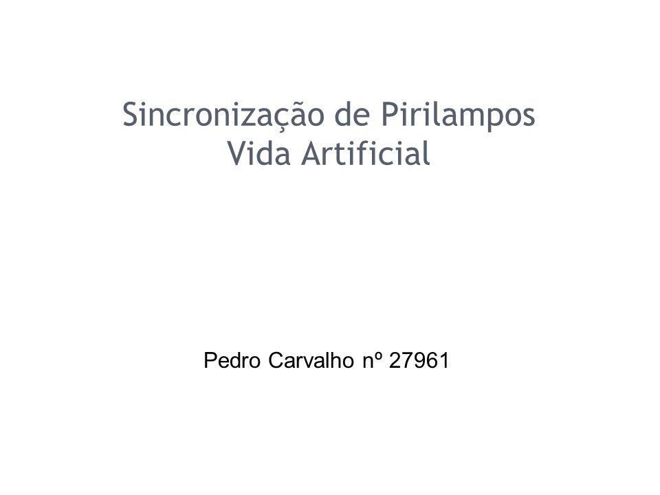 Sincronização de Pirilampos Vida Artificial Pedro Carvalho nº 27961
